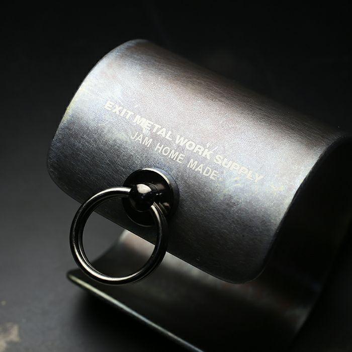 【JAM HOME MADE(ジャムホームメイド)】EXIT メタルバングル XL(55mm) - ダークアンバー - メンズ レディース ユニセックス 人気 ブランド おすすめ ペア プレゼント ごつめ シルバー ゴールド ブラック