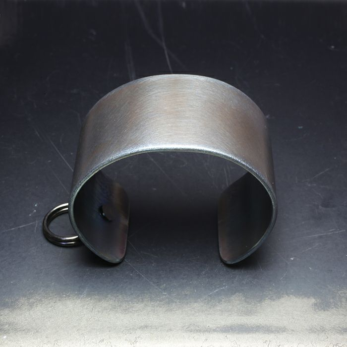 ブレスレット / EXIT メタルバングル L(40mm) - ダークアンバー - メンズ レディース ユニセックス 人気 ブランド おすすめ ペア プレゼント ごつめ シルバー ゴールド ブラック