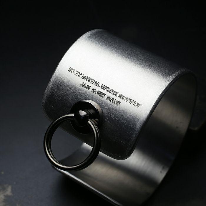 ブレスレット / EXIT メタルバングル L(40mm) - バイブレーション(マットステンレス)- メンズ レディース ユニセックス 人気 ブランド おすすめ ペア プレゼント ごつめ シルバー ゴールド ブラック