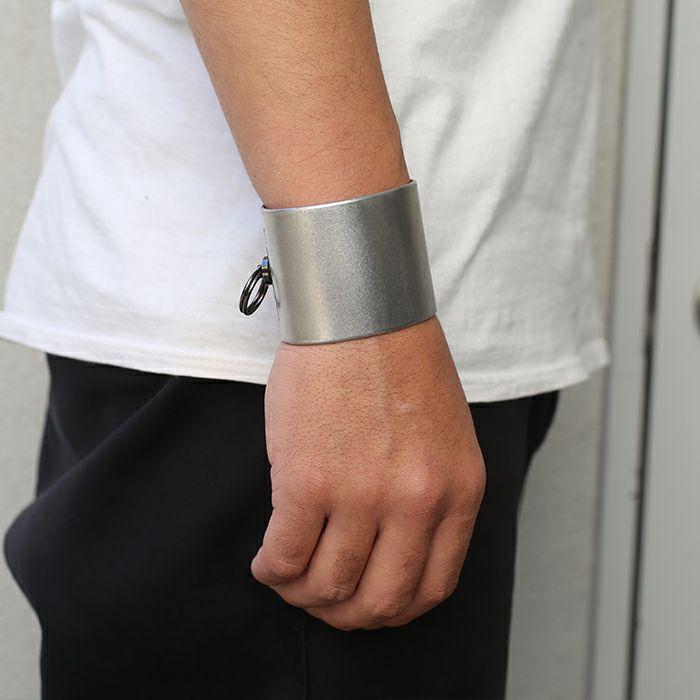 【JAM HOME MADE(ジャムホームメイド)】EXIT メタルバングル L(40mm) - バイブレーション(マットステンレス)- メンズ レディース ユニセックス 人気 ブランド おすすめ ペア プレゼント ごつめ シルバー ゴールド ブラック