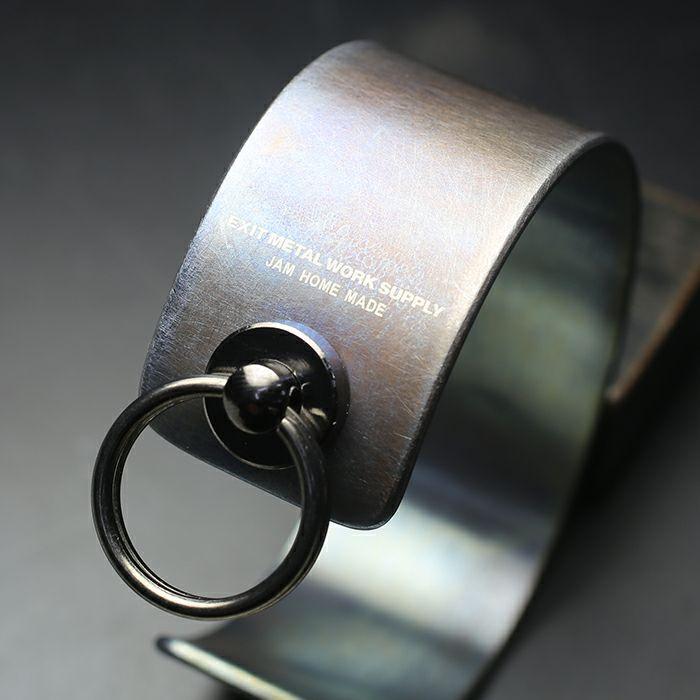 ブレスレット / EXIT メタルバングル M(25mm) - ダークアンバー - メンズ レディース ユニセックス 人気 ブランド おすすめ ペア プレゼント ごつめ シルバー ゴールド ブラック