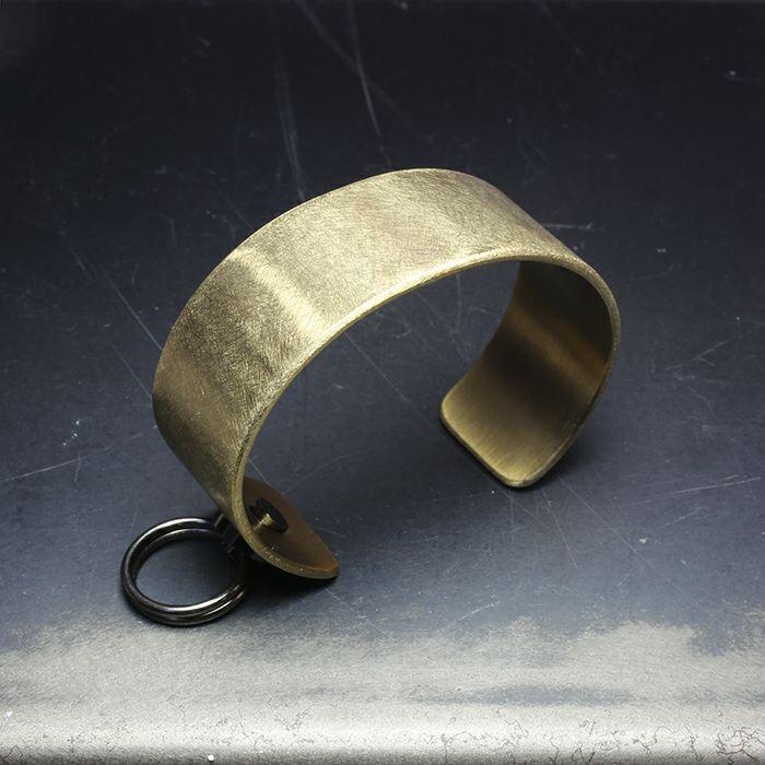 【JAM HOME MADE(ジャムホームメイド)】EXIT メタルバングル M(25mm) - ファイヤーゴールド - メンズ レディース ユニセックス 人気 ブランド おすすめ ペア プレゼント ごつめ シルバー ゴールド ブラック
