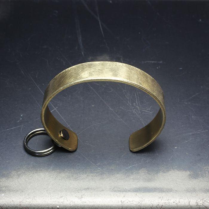 【JAM HOME MADE(ジャムホームメイド)】EXIT メタルバングル S(15mm) - ファイヤーゴールド - メンズ レディース ユニセックス 人気 ブランド おすすめ ペア プレゼント ごつめ シルバー ゴールド ブラック
