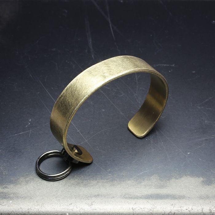 ブレスレット / EXIT メタルバングル S(15mm) - ファイヤーゴールド - メンズ レディース ユニセックス 人気 ブランド おすすめ ペア プレゼント ごつめ シルバー ゴールド ブラック