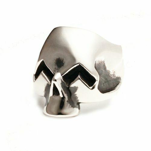 指輪 / スマイルスカルリング M メンズ 人気 おすすめ ブランド シルバー