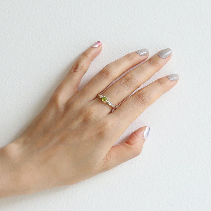 【ジャムホームメイド(JAMHOMEMADE)】8月 誕生石 SHIN'S PARK BIRTH STONE リング / 指輪