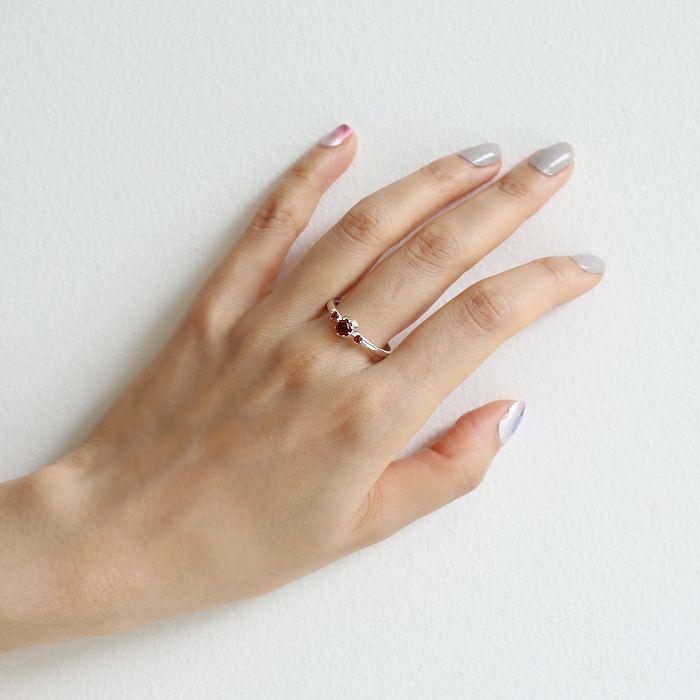 【ジャムホームメイド(JAMHOMEMADE)】1月 誕生石 SHIN'S PARK BIRTH STONE リング / 指輪