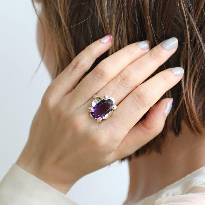 【ジャムホームメイド(JAMHOMEMADE)】2月 誕生石 SHIN'S PARK BIRTH STONE フリーサイズリング / 指輪
