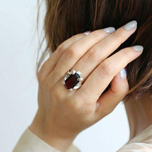 【ジャムホームメイド(JAMHOMEMADE)】1月 誕生石 SHIN'S PARK BIRTH STONE フリーサイズリング / 指輪