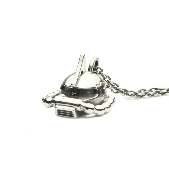 【ジャムホームメイド(JAMHOMEMADE)】機動戦士ガンダム シャア専用ザクフェイスネックレス -SILVER-