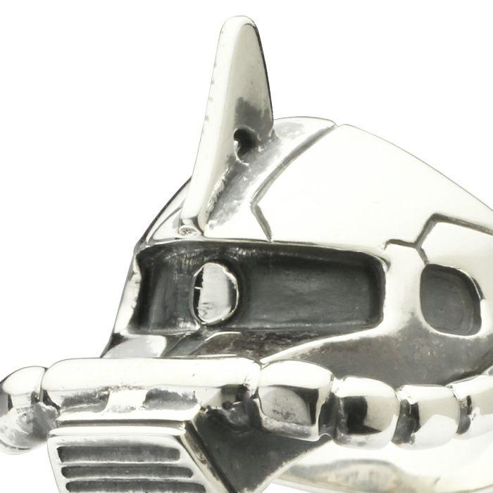 ガンダム/GUNDAM 機動戦士ガンダム シャア専用ザク フェイスリング -SILVER- 公式 メンズ コラボ 人気 おすすめ ブランド グッズ ファングッズ  シャア・アズナブル ザクⅡ MS-06S ジオン 3倍