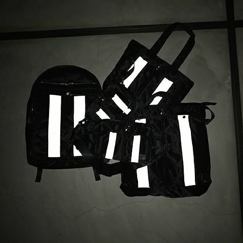 【ジャムホームメイド(JAMHOMEMADE)】ポーター/PORTER アイレット リフレクター ボディバッグ ウエストポーチ -レディース-
