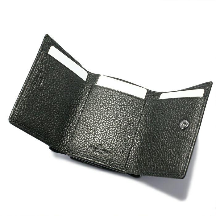 令和 財布 三つ折り コンパクト - アイレット / ブラック / 財布・革財布