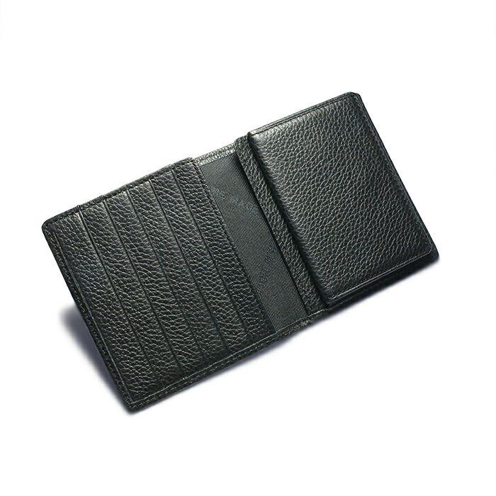 令和 財布 二つ折り コンパクト - アイレット / ブラック / 財布・革財布