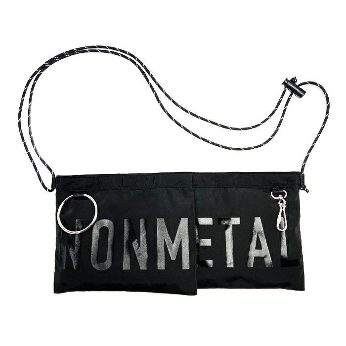 【ジャムホームメイド(JAMHOMEMADE)】シンプル / フロント バムフラップ サコッシュ バッグ L / nonmetalシリーズ