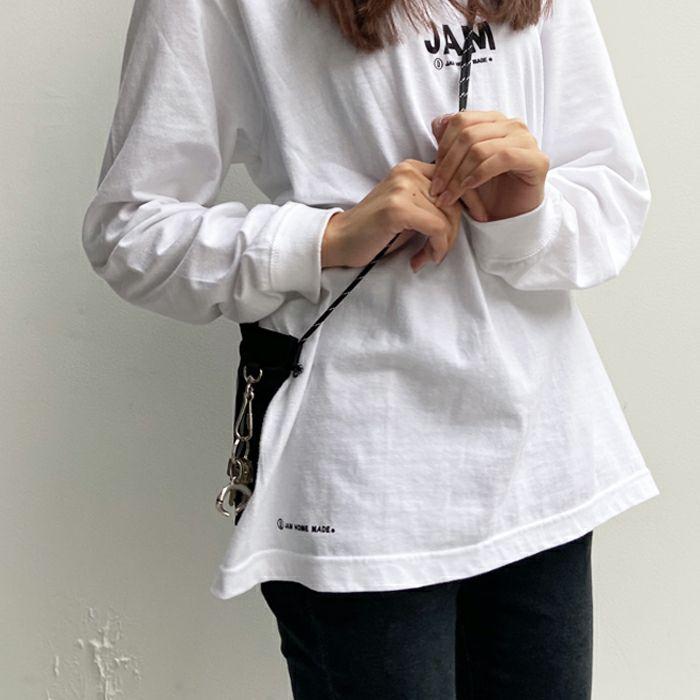 【ジャムホームメイド(JAMHOMEMADE)】シンプル / バムフラップ サコッシュ バッグ L -レディース-  / nonmetalシリーズ