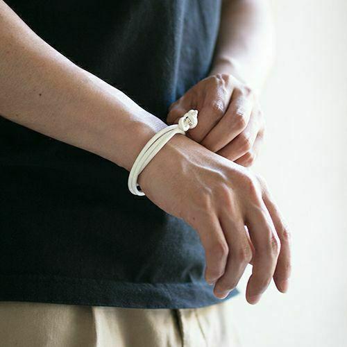 【ジャムホームメイド(JAMHOMEMADE)】10月 誕生石 ディア レザー ブレスレット 3巻 - ピンクトルマリン / レディース