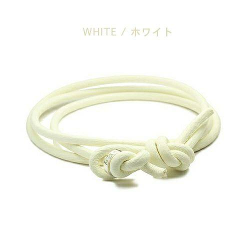 【ジャムホームメイド(JAMHOMEMADE)】9月 誕生石 ディア レザー ブレスレット 3巻 - サファイア / レディース