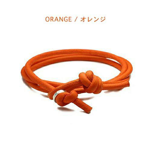 【ジャムホームメイド(JAMHOMEMADE)】7月 誕生石 ディア レザー ブレスレット 3巻 - ルビー / レディース