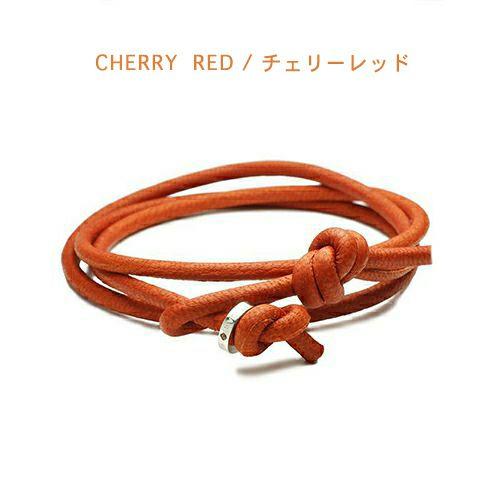 【ジャムホームメイド(JAMHOMEMADE)】5月 誕生石 ディア レザー ブレスレット 3巻 - エメラルド / レディース