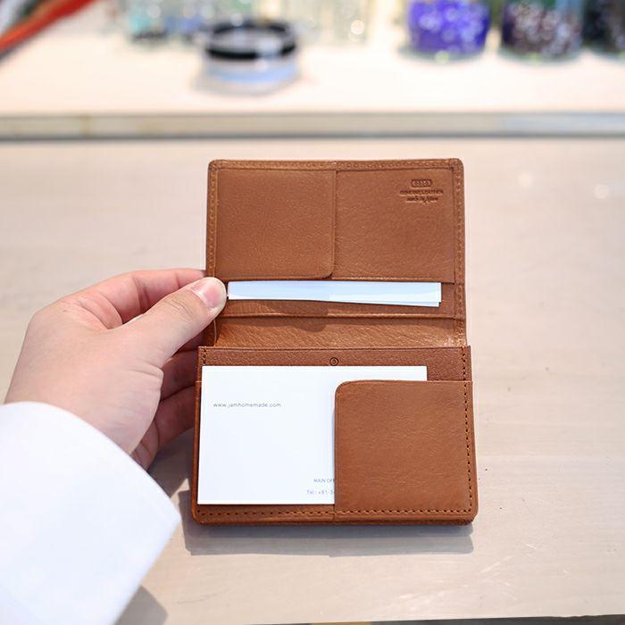 9月誕生石 アリゾナレザーカードケース - ブラウン / 名刺入れ / 財布・革財布