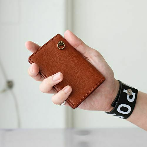 3月誕生石 アリゾナレザーカードケース - ブラウン / 名刺入れ / 財布・革財布