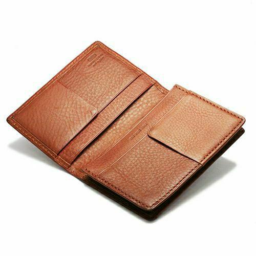 1月誕生石 アリゾナレザーカードケース - ブラウン / 名刺入れ / 財布・革財布