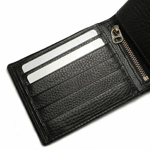 10月誕生石 アリゾナレザー 二つ折り財布 - ブラック / ミディアムウォレット プレビュー / 財布・革財布 > メンズ 財布 > メンズ 二つ折財布・三つ折財布