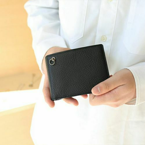 4月誕生石 アリゾナレザー 二つ折り財布 - ブラック / ミディアムウォレット / 財布・革財布 > メンズ 財布 > メンズ 二つ折財布・三つ折財布