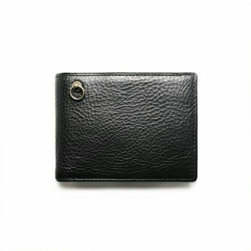 1月誕生石 アリゾナレザー 二つ折り財布 - ブラック / ミディアムウォレット / 財布・革財布 > メンズ 財布 > メンズ 二つ折財布・三つ折財布