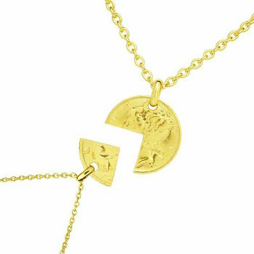 コイン ペアネックレス ヴィンテージ マーキュリーコイン - ゴールド / ネックレス > ペアネックレス > コインネックレス
