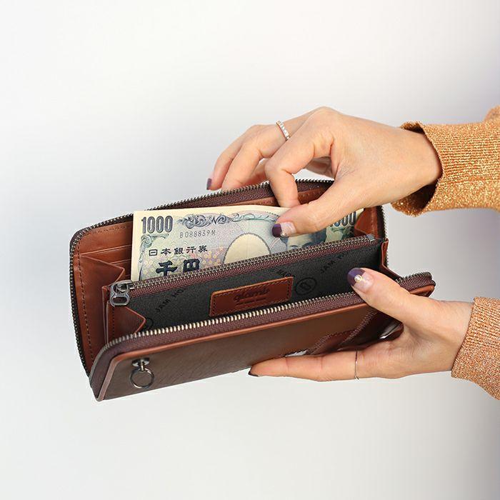 グラム/glamb GAUDY ラウンドファスナー 長財布 - ブラウン / レディース / 財布・革財布