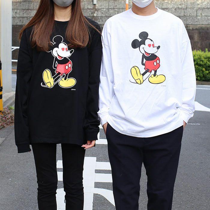 ミッキー ロングスリーブ Tシャツ ブラック × フルカラー / 洋服小物