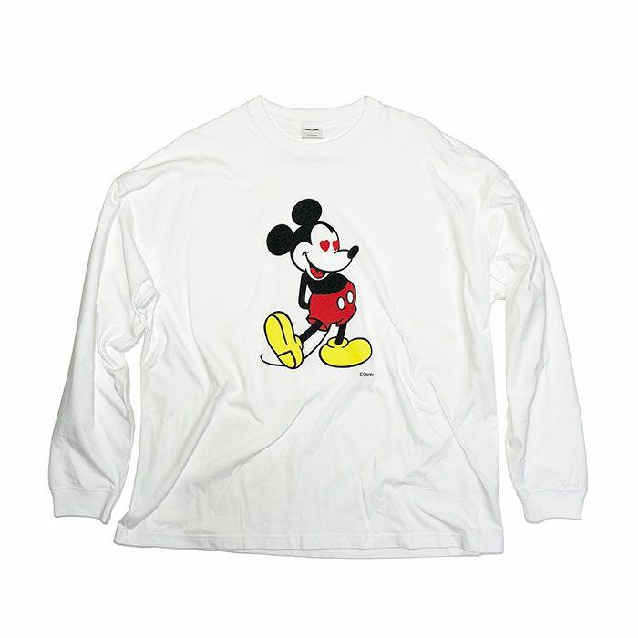 ミッキー ロングスリーブ Tシャツ ホワイト × フルカラー / 洋服小物