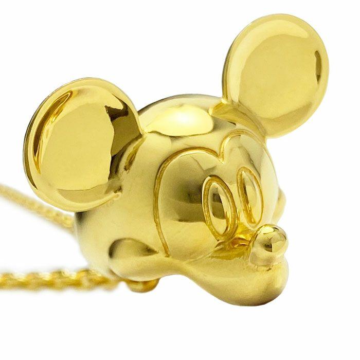 ミッキー マウス ベビーリング ネックレス - ゴールド / ネックレス