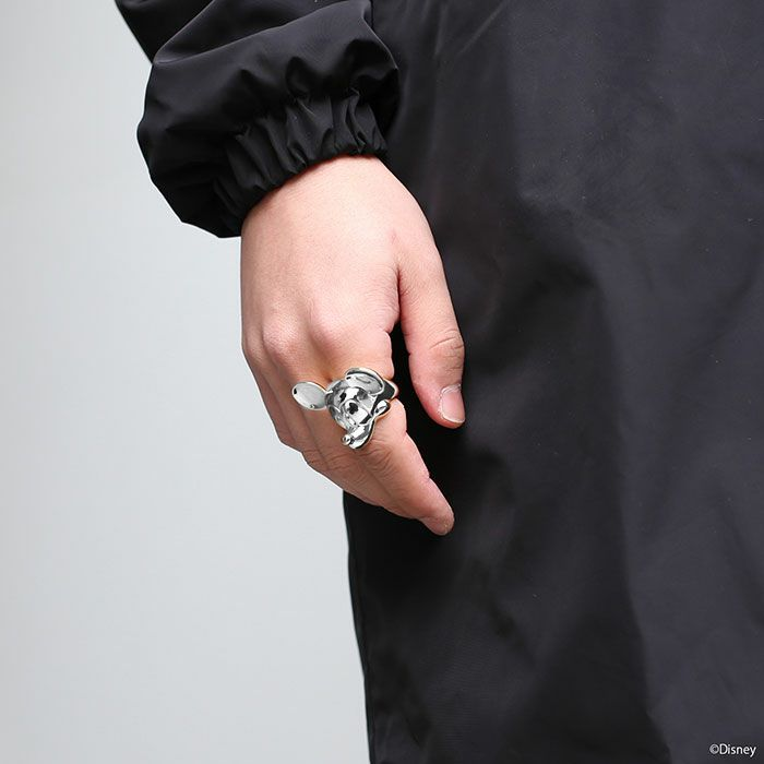 ミッキー マウス フェイス リング - シルバー  M / 指輪・リング