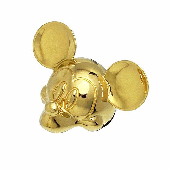 ミッキー マウス フェイス リング - ゴールド  S / 指輪・リング