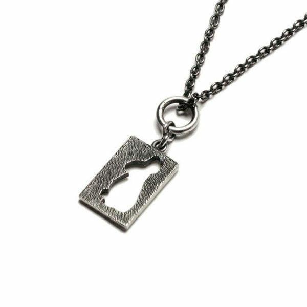 坂元勝彦 十二支 プレート ネックレス -卯(兎)- / ネックレス
