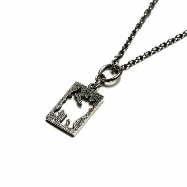 坂元勝彦 十二支 プレート ネックレス -丑(牛)- / ネックレス