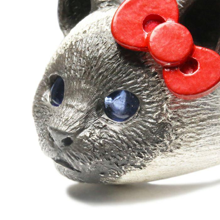 【ジャムホームメイド(JAMHOMEMADE)】ハローキティ/Hello Kitty JAM猫 フェイス リング / 指輪