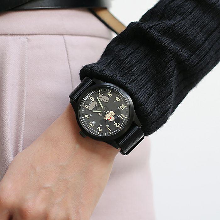 【ジャムホームメイド(JAMHOMEMADE)】シークレット ミッキー ウォッチ タイプ2 モノクロ / 腕時計
