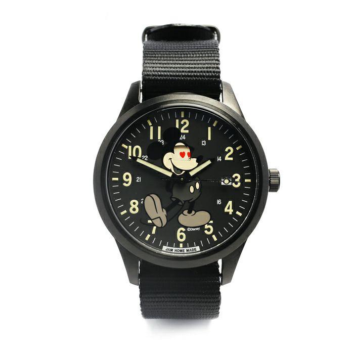 【ジャムホームメイド(JAMHOMEMADE)】シークレット ミッキー ウォッチ タイプ2 モノクロ レディース/ 腕時計