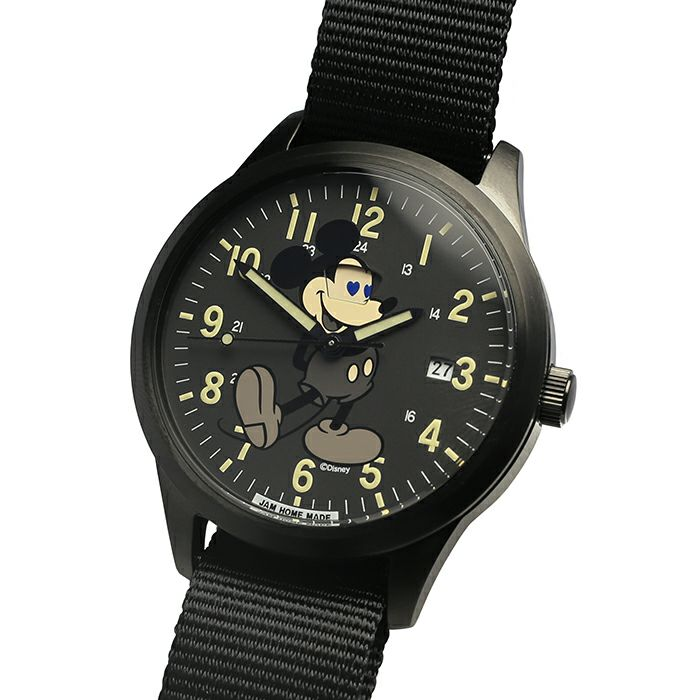 【ジャムホームメイド(JAMHOMEMADE)】シークレット ミッキー ウォッチ タイプ2 ペア フルカラー × モノクロ / 腕時計