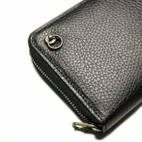 アリゾナレザー ラウンドファスナー 長財布 - ブラック / ロングウォレット / 財布・革財布 > メンズ 財布・ウォレット > メンズ 長財布