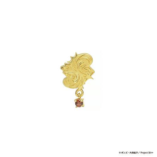 【ジャムホームメイド(JAMHOMEMADE)】SK∞(エスケーエイト) ピアス レキ / ゴールドカラー×ガーネット