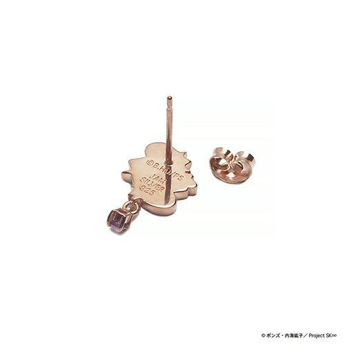 【ジャムホームメイド(JAMHOMEMADE)】SK∞(エスケーエイト) チェリーブロッサム ピアス&ネックレスセット / ピンクゴールドカラー×アメシスト