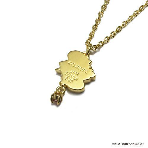 【ジャムホームメイド(JAMHOMEMADE)】SK∞(エスケーエイト) レキ ピアス&ネックレスセット / ゴールドカラー×ガーネット